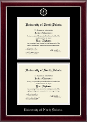 University of North Dakota Diploma Frame - Double Diploma Frame in Gallery Silver