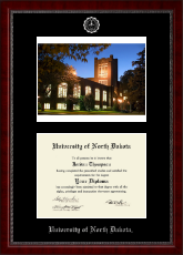 University of North Dakota Diploma Frame - Campus Scene Diploma Frame in Sutton