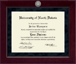 University of North Dakota Diploma Frame - Millennium Silver Engraved Diploma Frame in Cordova