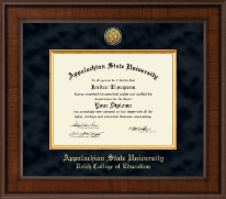 Appalachian State University Diploma Frame - Presidential Gold Engraved Diploma Frame in Madison