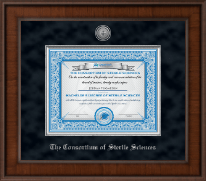 The Consortium of Sterile Sciences Diploma Frame - Presidential Silver Engraved Diploma Frame in Madison