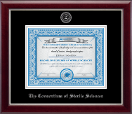 The Consortium of Sterile Sciences Diploma Frame - Silver Embossed Diploma Frame in Gallery Silver
