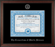 The Consortium of Sterile Sciences Diploma Frame - Silver Embossed Diploma Frame in Studio