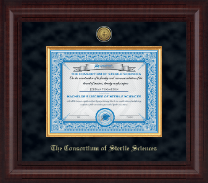 The Consortium of Sterile Sciences Diploma Frame - Presidential Gold Engraved Diploma Frame in Premier