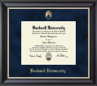 Bucknell University Diploma Frame - Regal Edition Diploma Frame in Noir