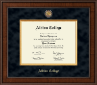 Albion College Diploma Frame - Presidential Masterpiece Diploma Frame in Madison