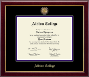 Albion College Diploma Frame - Masterpiece Medallion Diploma Frame in Gallery