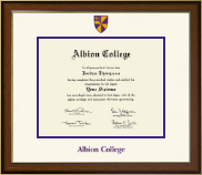 Albion College Diploma Frame - Dimensions Diploma Frame in Westwood
