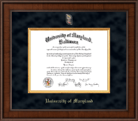 University of Maryland Baltimore Diploma Frame - Presidential Masterpiece Diploma Frame in Madison