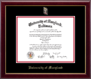 University of Maryland Baltimore Diploma Frame - Masterpiece Medallion Diploma Frame in Gallery
