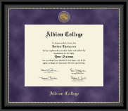 Albion College Diploma Frame - Regal Edition Diploma Frame in Noir