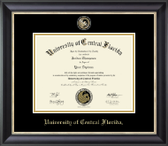 University of Central Florida Diploma Frame - Masterpiece Medallion Diploma Frame in Noir