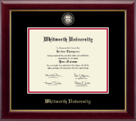 Whitworth University Diploma Frame - Masterpiece Medallion Diploma Frame in Gallery