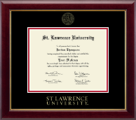St. Lawrence University Diploma Frame - Gold Embossed Diploma Frame in Gallery