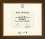 Wheelock College Diploma Frame - Dimensions Diploma Frame in Westwood