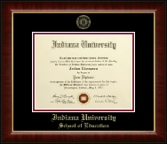 Indiana University - Purdue University Diploma Frame - Gold Embossed Diploma Frame in Murano