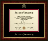 Indiana University Southeast Diploma Frame - Gold Embossed Diploma Frame in Murano