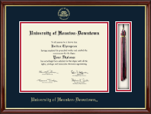 University of Houston Downtown Diploma Frame - Tassel Edition Diploma Frame in Southport Gold