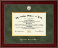 Charleston School of Law Diploma Frame - Presidential Masterpiece Diploma Frame in Jefferson