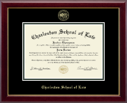 Charleston School of Law Diploma Frame - Gold Embossed Diploma Frame in Gallery