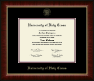 University of Holy Cross Diploma Frame - Gold Embossed Diploma Frame in Murano