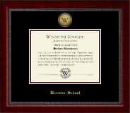 Wooster School in Connecticut Diploma Frame - Gold Engraved Medallion Diploma Frame in Sutton