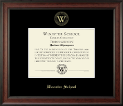 Wooster School in Connecticut Diploma Frame - Gold Embossed Diploma Frame in Studio