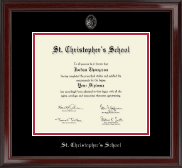 St. Christopher's School in Virginia Diploma Frame - Silver Embossed Diploma Frame in Encore