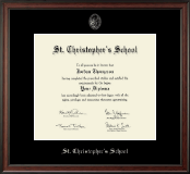 St. Christopher's School in Virginia Diploma Frame - Silver Embossed Diploma Frame in Studio