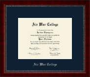 Air War College Diploma Frame - Silver Embossed Diploma Frame in Sutton