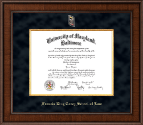 U Maryland Baltimore Diploma Frames For Francis King