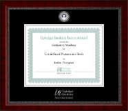 The Upledger Institute Certificate Frame - Masterpiece Medallion Certificate Frame in Sutton