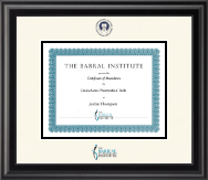 The Barral Institute Certificate Frame - Dimensions Certificate Frame in Midnight