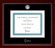 The Barral Institute Certificate Frame - Masterpiece Medallion Certificate Frame in Sutton