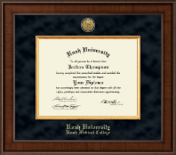 Rush University Diploma Frame - Presidential Gold Engraved Diploma Frame in Madison