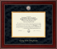 College of the Holy Cross Diploma Frame - Presidential Masterpiece Diploma Frame in Jefferson