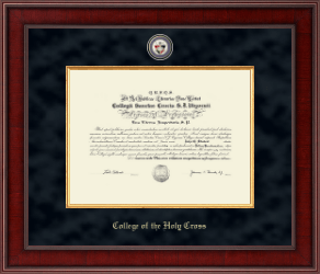 college of the holy cross diploma frame presidential masterpiece diploma frame in jefferson
