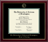 The University of Alabama at Birmingham Diploma Frame - Doctor of Nursing Practitioner- Gold Embossed Diploma Frame in Gallery