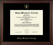 Saint Michael's College Diploma Frame - Gold Embossed Diploma Frame in Studio