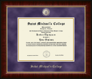 Saint Michael's College Diploma Frame - Masterpiece Medallion Diploma Frame in Murano