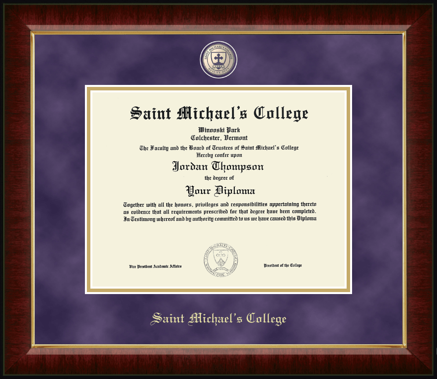 saint michaels college masterpiece medallion diploma frame in murano item 296127 from saint michaels college bookstore - Michaels Diploma Frame