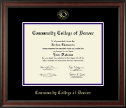 Community College of Denver Diploma Frame - Gold Embossed Diploma Frame in Studio