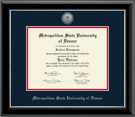 metropolitan state university of denver diploma frames church  metropolitan state university of denver diploma frame silver engraved medallion diploma frame in onyx silver