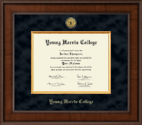 Young Harris College Diploma Frame - Presidential Gold Engraved Diploma Frame in Madison