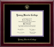 Young Harris College Diploma Frame - Gold Embossed Diploma Frame in Gallery