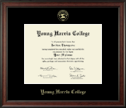 Young Harris College Diploma Frame - Gold Embossed Diploma Frame in Studio