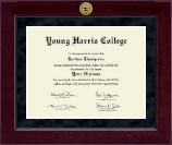 Young Harris College Diploma Frame - Millennium Gold Engraved Diploma Frame in Cordova