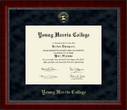 Young Harris College Diploma Frame - Gold Embossed Diploma Frame in Sutton