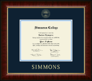 Simmons College Diploma Frame - Gold Embossed Diploma Frame in Murano