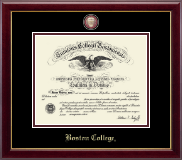 Boston College Diploma Frame - Masterpiece Medallion Diploma Frame in Gallery